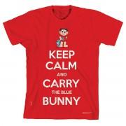 Camiseta Turma Da Mônica Cool - Keep Calm And Carry The Blue Bunny